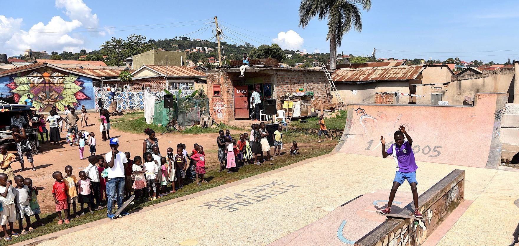 Skatepark Uganda Skatecontest Kitintale